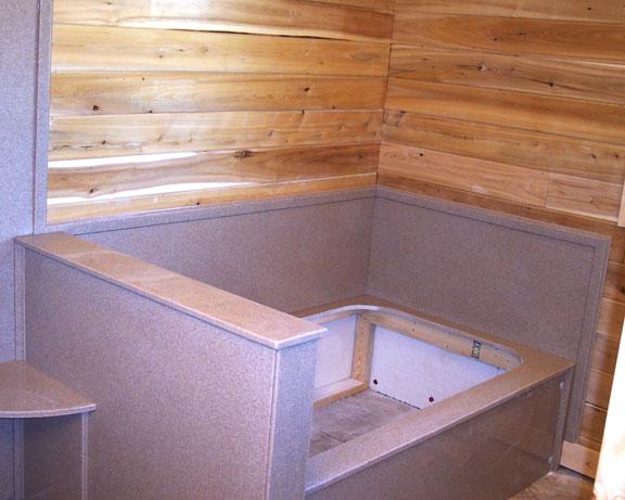 Concrete Bathtub With Jets