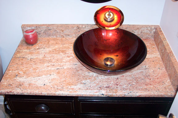 Stone Vanity Bowls : Marble Shop Greenfield-Products include, Cultured Marble, Polystone ...